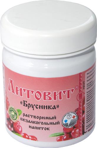 Литовит-напиток растворимый «Брусника», порошок, 140 г