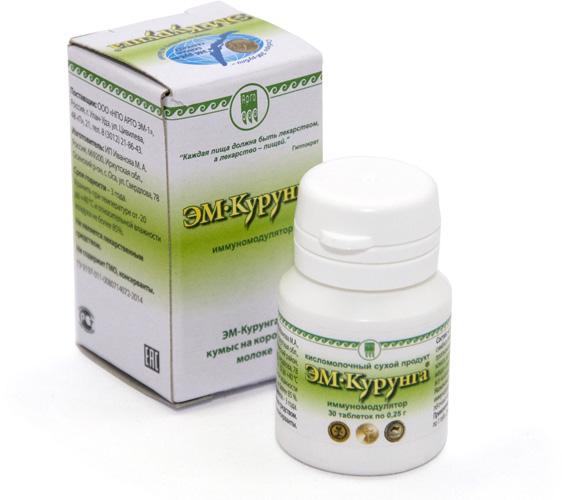 Продукт кисломолочный «ЭМ-Курунга», таблетки, 30 шт