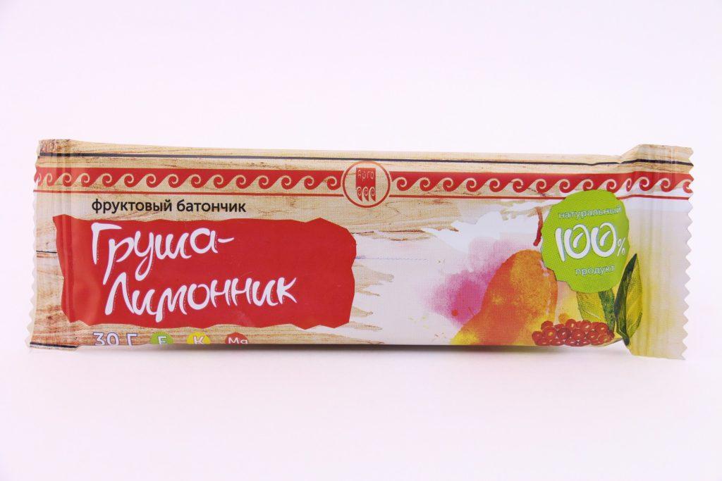 Батончик фруктовый «Груша-лимонник», 30 г