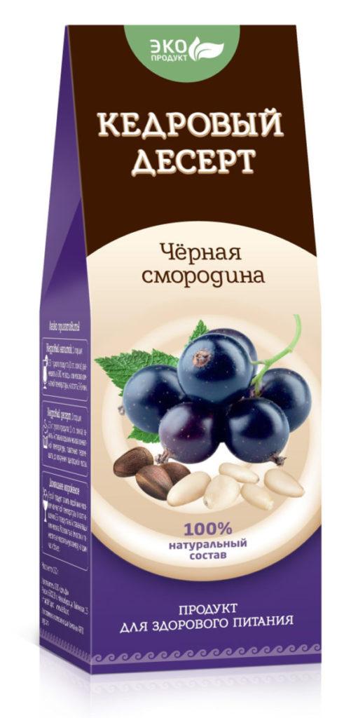 Кедровый десерт «Черная смородина», 150 г