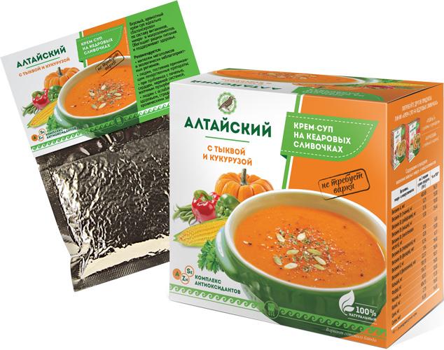 Крем-суп «Алтайский» с тыквой и кукурузой, 30 г